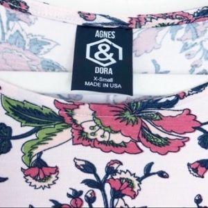 Agnes & Dora Tops - Agnes and Dora NWOT Floral Ruffle Tunic XS
